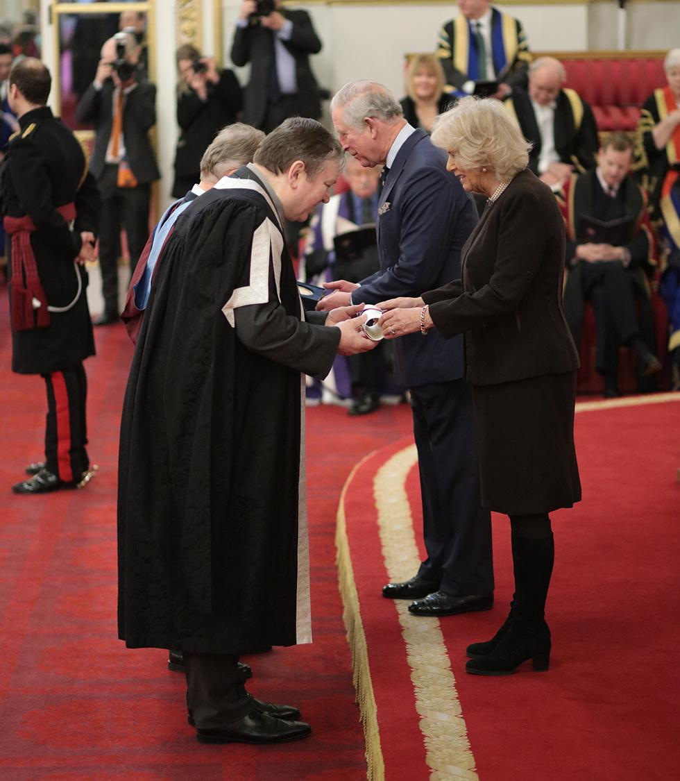 Prince Charles in Palace presentation.