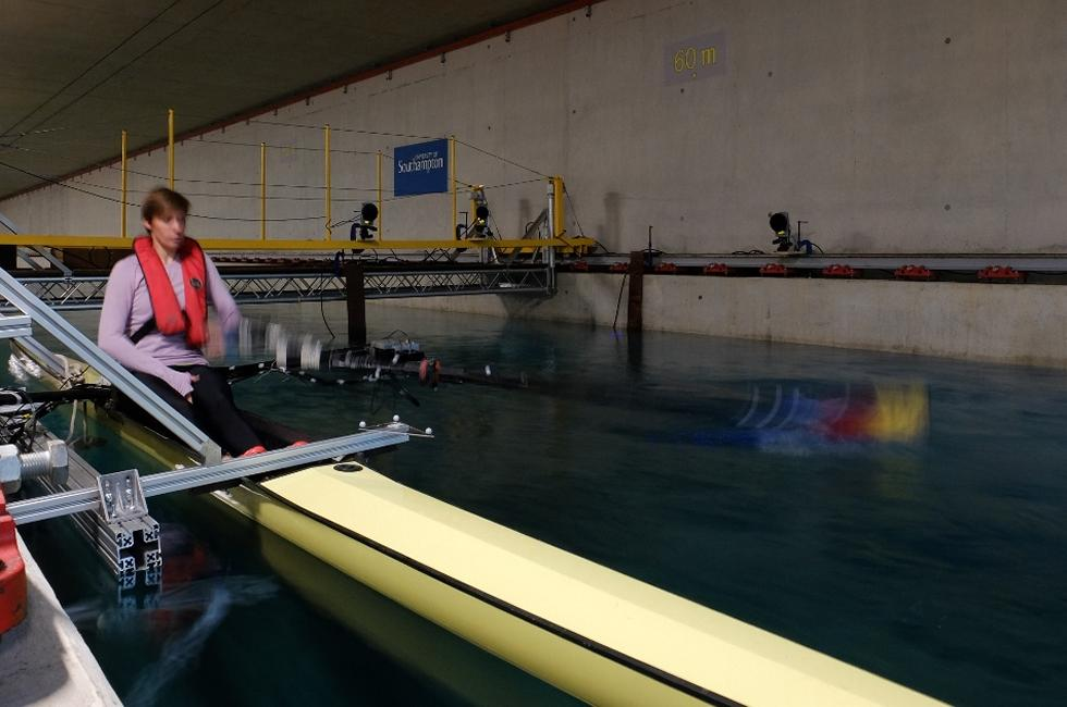 Rowing boat tests
