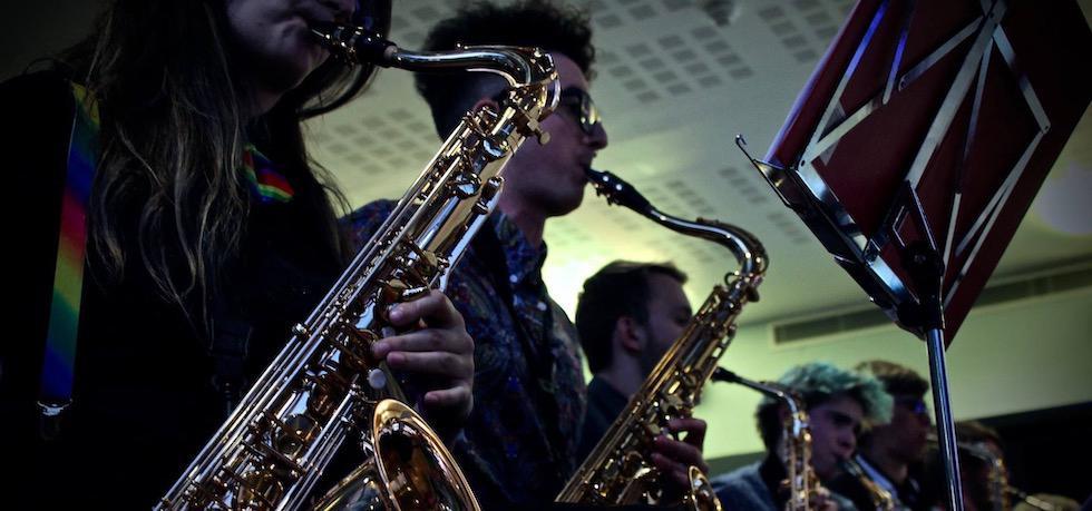 Southampton University Jazz Band performing in SUSU Bar 2