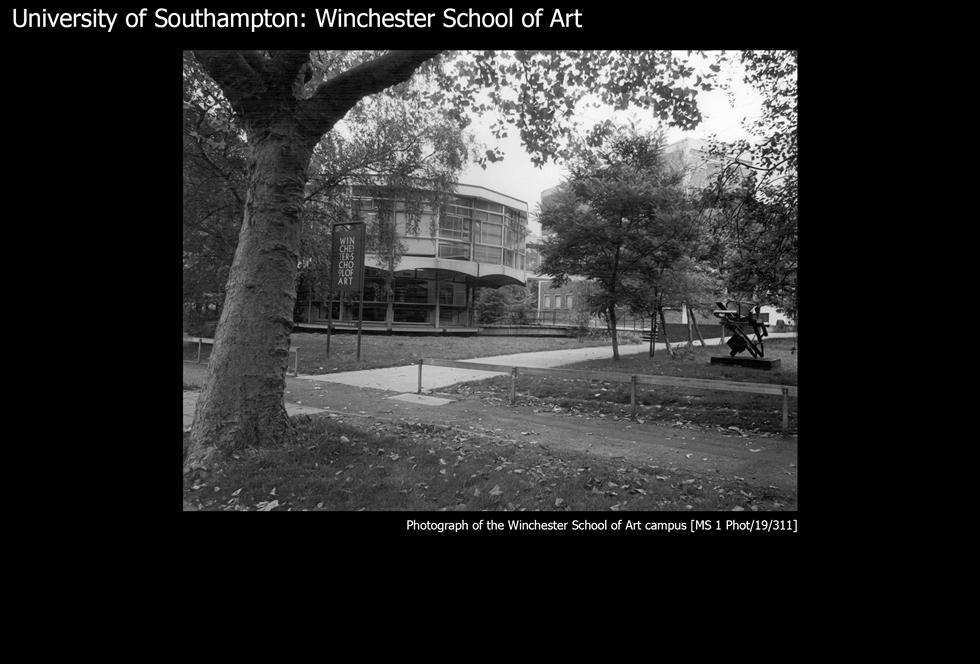 Image #27a: Winchester School of Art