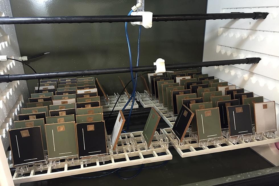 Corrosion samples under test