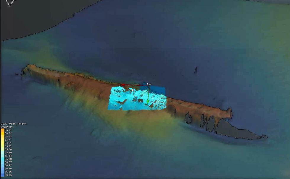 High-resolution survey of U-boat. Credit: Tolmount Development