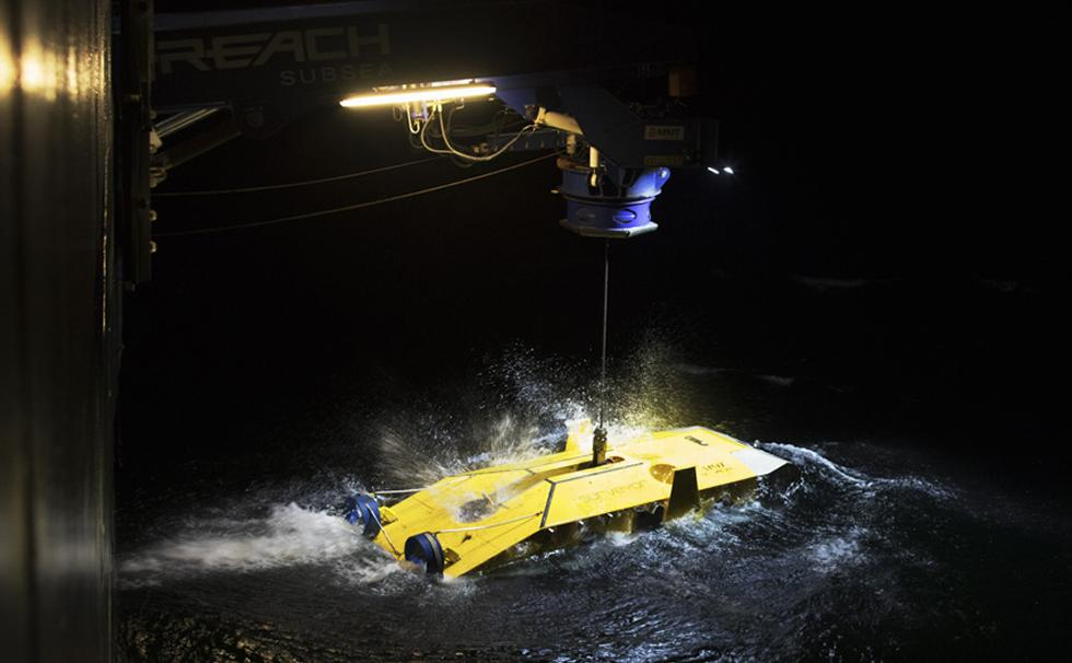 Surveyor Interceptor ROV being deployed