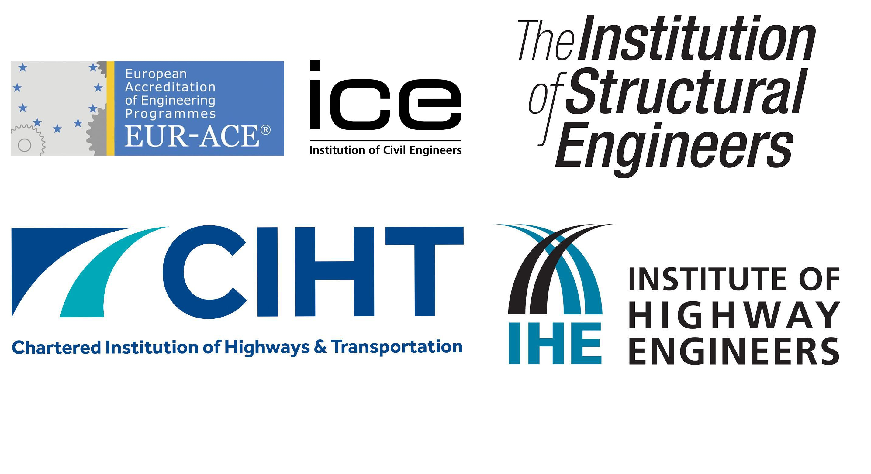 ICE, Institution of Structural Engineers, CIHT, Institute of Highway Engineers